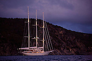 Athena anchored in St. Barth's.