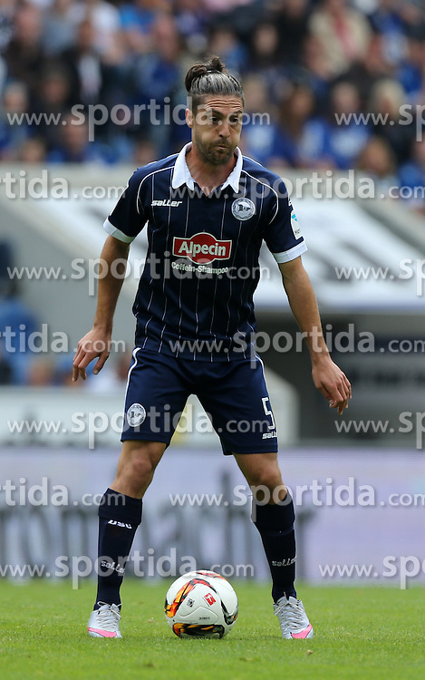 12.09.2015, Schueco Arena, Bielefeld, GER, 2. FBL, DSC Arminia Bielefeld vs 1. FC Heidenheim, 6. Runde, im Bild David Ulm (Bielefeld) mit Ball // during the 2nd German Bundesliga 6th round match between DSC Arminia Bielefeld and 1. FC Heidenheim at the Schueco Arena in Bielefeld, Germany on 2015/09/12. EXPA Pictures &copy; 2015, PhotoCredit: EXPA/ Eibner-Pressefoto/ Hommes<br /> <br /> *****ATTENTION - OUT of GER*****