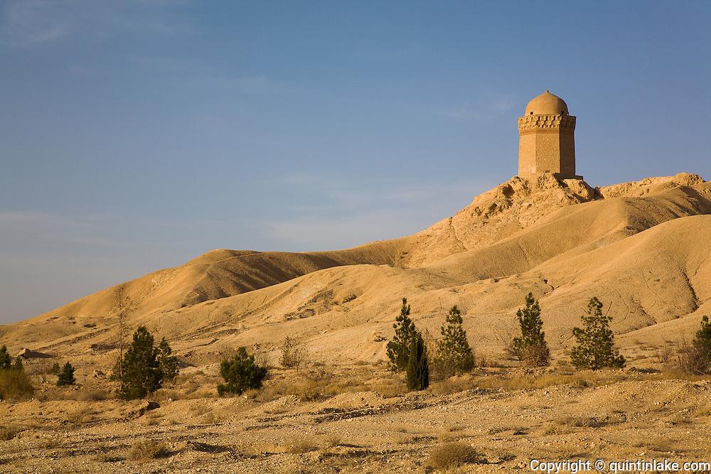 Gonbad Ali Dome tomb tower. Abarqu, Iran,