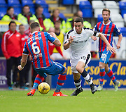 Dundee&rsquo;s Michael Duffy goes past Inverness&rsquo; Josh&nbsp;Meekings - Inverness Caledonian Thistle v Dundee in the Ladbrokes Scottish Premiership at Caledonian Stadium, Inverness. Photo: David Young<br /> <br />  - &copy; David Young - www.davidyoungphoto.co.uk - email: davidyoungphoto@gmail.com