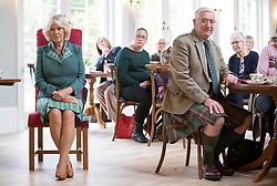 The Duchess of Cornwall, known as the Duchess of Rothesay in Scotland, during her visit to the Duke of Rothesay Highland Games Pavilion in Braemar, Aberdeenshire.