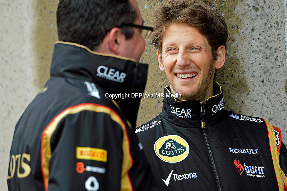 MOTORSPORT - F1 2013 - GRAND PRIX OF CANADA - MONTREAL (CAN) - 07 TO 09/06/2013 - PHOTO ERIC VARGIOLU / DPPI GROSJEAN ROMAIN (FRA) - LOTUS E21 RENAULT - AMBIANCE PORTRAIT<br /> BOULLIER ERIC (FRA) - LOTUS F1 GP PRINCIPAL - DIRECTEUR TEAM - AMBIANCE PORTRAIT