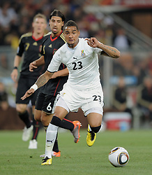 Kevin Prince BOATENG and Sami KHEDIRA during the 2010 FIFA World Cup South Africa Group D match between Ghana and Germany at Soccer City Stadium on June 23, 2010 in Johannesburg, South Africa.