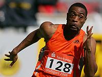Friidrett<br /> Verdenscupfinalen Stuttgart<br /> Foto: Witters/Digitalsport<br /> NORWAY ONLY<br /> <br /> 10.09.2006<br /> Tyson Gay USA 200m Sprint<br /> Leichtathletik Weltfinale 2006 Stuttgart