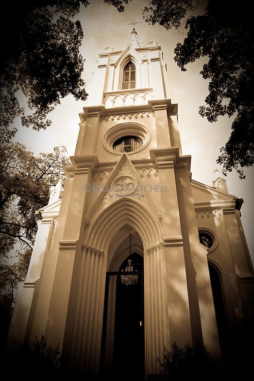 Beautiful French colonial church on Shamian Island in Guangzhou, China.
