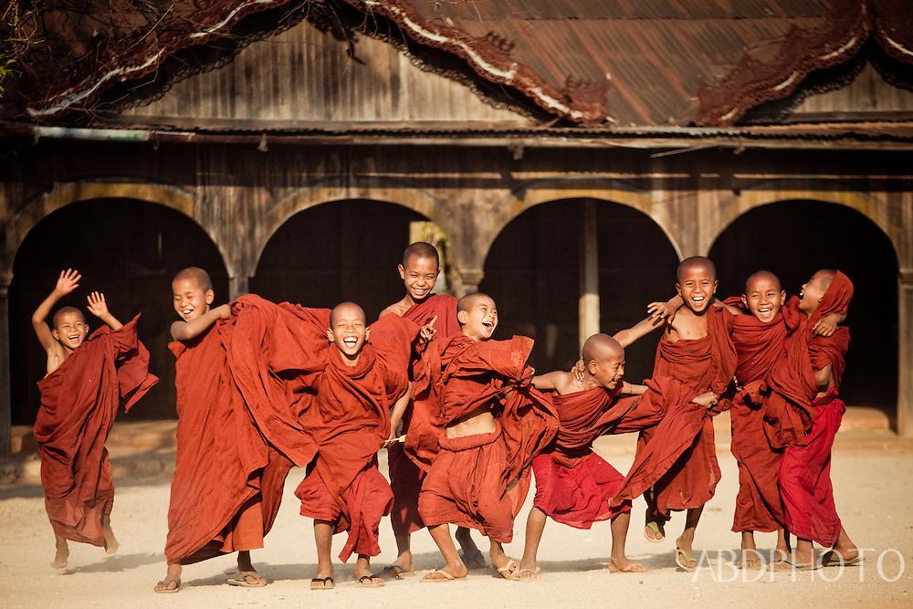 Monks at Wai Gyi monastery in Kalaw, Myanmar (Burma)
