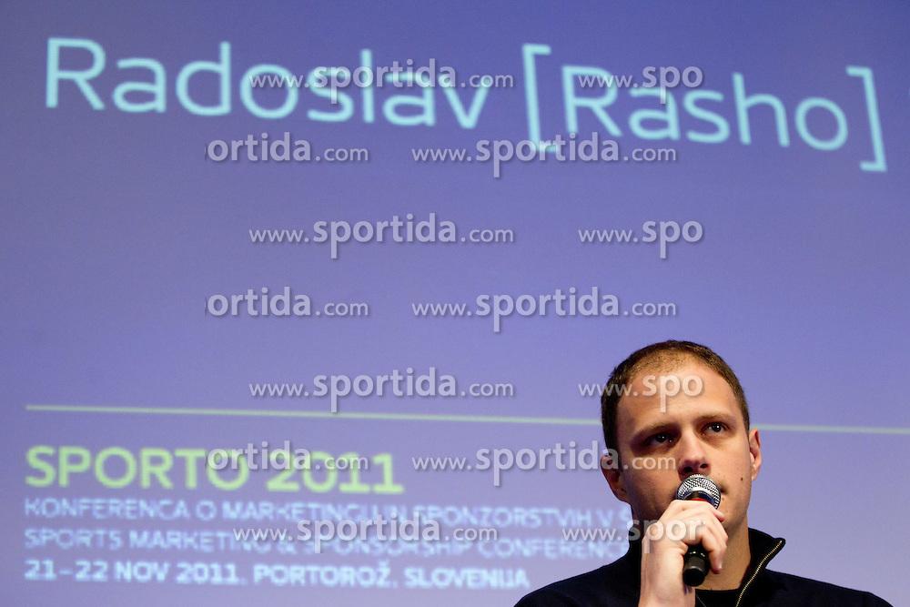 Raso Nesterovic during sports marketing conference Sporto 2011, on November 21, 2011 in Hotel Slovenija, Portoroz / Portorose, Slovenia. (Photo By Vid Ponikvar / Sportida.com)