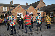 The Straw Bear Festival, Whittlesey,Peterborough. 17 January 2016<br /> On Plough Tuesday, the day after Plough Monday (the first Monday after Twelfth Night), a man or boy is covered from head to foot in straw and led around the town where  he would dance in exchange for gifts of money, food or beer. The custom was was resurrected by the Whittlesea Society in 1980.