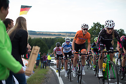 Ellen van Dijk (NED) of Team Netherlands rides mid-pack up on the  Hankaberg in the third lap of Stage 2 of the Lotto Thuringen Ladies Tour - a 102.9 km road race, starting and finishing in Dortendorf on July 14, 2017, in Thuringen, Germany. (Photo by Balint Hamvas/Velofocus.com)