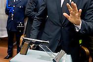 Roma 17 MArzo 2014<br /> La pistola con cui Ali' Agca il 13 maggio 1981, sparo' a Giovanni Paolo II, la Browning HP., calibro 9 Parabellum, matricola 76C23953, è stata data in prestito dal Museo Criminologico di Roma  alla Casa famiglia  Karol Wojtyla a Wadowice in Polonia per tre anni.<br /> Rome March 17, 2104<br /> The gun with which Ali ' Agca May 13, 1981 , shot  to John Paul II, the Browning HP  , 9mm Parabellum,serial number 76C23953, has been on loan from the Criminology Museum of Rome to  the family home  Karol Wojtyla in Wadowice in Poland for three years.