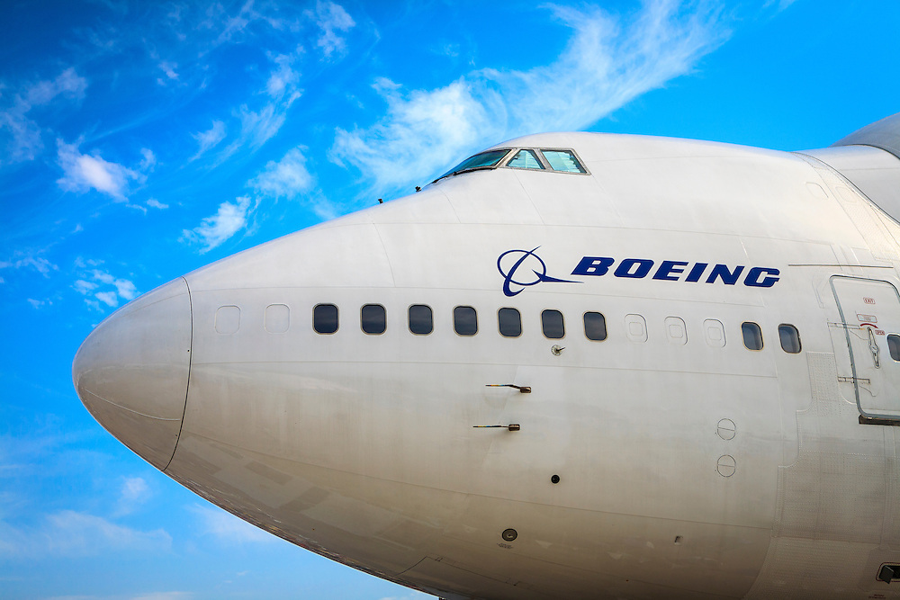 """Boeing """"Dreamlifter"""", on display during Airventure 2008, in Oshkosh, Wisconsin.  Created by aviation photographer John Slemp of Aerographs Aviation Photography. Clients include Goodyear Aviation Tires, Phillips 66 Aviation Fuels, Smithsonian Air & Space magazine, and The Lindbergh Foundation.  Specialising in high end commercial aviation photography and the supply of aviation stock photography for commercial and marketing use."""
