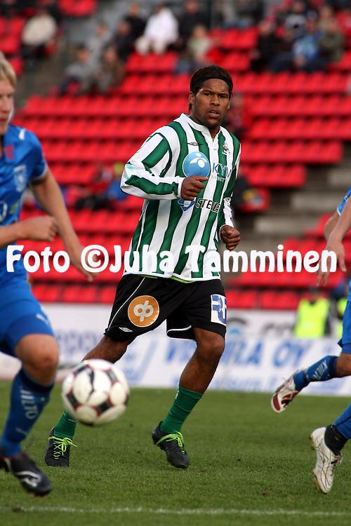 22.05.2008, Ratina, Tampere, Finland..Veikkausliiga 2008 - Finnish League 2008.Tampere United - FC KooTeePee.Olof Hviden-Watson - KooTeePee.©Juha Tamminen.....ARK:k