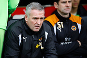 Wolverhampton Wanderers head coach Paul Lambert during the EFL Sky Bet Championship match between Fulham and Wolverhampton Wanderers at Craven Cottage, London, England on 18 March 2017. Photo by Andy Walter.