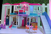 The Barbie Hello Dreamhouse, the world's first smart dollhouse, is displayed at the New York Toy Fair, Friday, Feb. 12, 2016. The Dreamhouse features floor sensors that recognize where Barbie and her friends are in the house and embedded speech recognition that allows you to control elements of the house.  (Photo by Diane Bondareff/AP Images for Mattel)