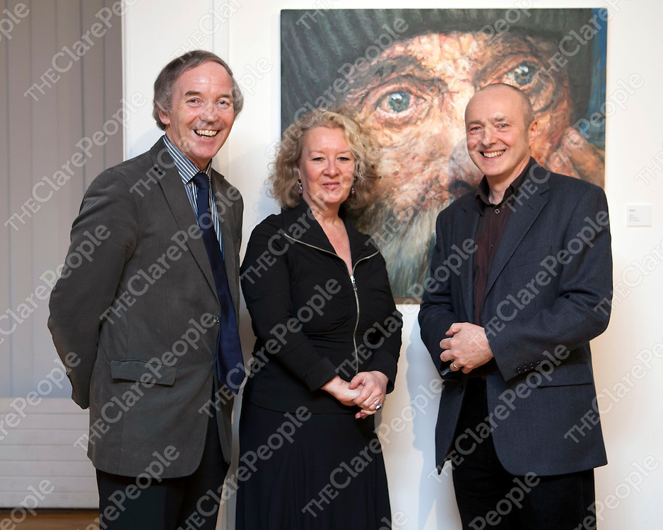 Free Usage<br /> John Lonergan, Patricia Moriarty, Bourn Vincent Gallery and Eoin MacLochlainn pictured at the launch of HOME, an exhibition of new work by artist Eoin Mac Lochlainn at the Bourn Vincent Gallery, University of Limerick.<br /> Pic: Don Moloney/Press 22<br /> New Exhibition in UL Portrays Reality of Social Problems in Ireland<br /> Home, an exhibition by Eoin Mac Lochlainn, was launched recently at the Bourn Vincent Gallery, UL by John Lonergan, Former Governor of Mountjoy Prison.  Eoin Mac Lochlainn's exhibition reflects current Irish society and the problems of homelessness, poverty and social disintegration.<br /> Eoin Mac Lochlainn's art challenges the depiction of homelessness in the media and seeks to engage viewer's in the realities of homelessness instead of automatically overlooking those who are marginalised in society.  Speaking at the launch Eoin Mac Lochlainn asked; &quot;Who is more fitting to be portrayed - a businessman, a bishop or a homeless person?   Also, which seems more important - the oil paintings on the wall, the cardboard drawings on the ground or the coffee cup towers?  As an artist I feel an empathy with those on the margins of society.  I see my role as observer, my work as bearing witness in some way.  I am interested in exploring how art may produce a deeper and more enduring understanding of the contemporary experience than do media images&quot;.<br /> Eoin Mac Lochlainn graduated as a mature student in 2000 from the National College of Art and Design.  His major exhibitions since graduation include Lorg at the RHA Ashford Gallery in 2002, &fnof;agnairc/Requiem, which were installed in the cells of Kilmainham Gaol, in 2005 and Caoineadh/Elegies in 2008/9. <br /> <br /> The exhibition is open for viewing until 27th April, on Monday to Friday, 9.30am - 5.30pm.<br /> Free Usage<br /> John Lonergan, Patricia Moriarty, Bourn Vincent Gallery and Eoin MacLochlainn pictured at the launch of HOME, an exhibition of new work by artist Eoin Mac Lochlainn at the Bourn Vincent Gallery, University of Limeric