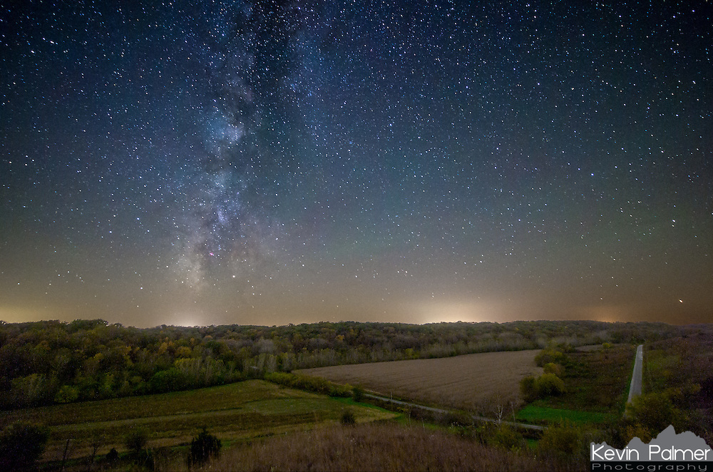 The milky way sets in the west shortly after sunset. This was taken from the top of a hill prairie in Jim Edgar State Park. It was a great place to watch a meteor shower.
