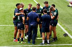 London Irish huddle - Mandatory by-line: Robbie Stephenson/JMP - 29/07/2017 - RUGBY - Franklin's Gardens - Northampton, England - Northampton v London Irish - Singha Premiership Rugby 7s