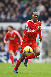 NEWCASTLE, ENGLAND - Sunday, December 28, 2008: Liverpool's Ryan Babel in action against Newcastle United during the Premiership match at St James' Park. (Photo by David Rawcliffe/Propaganda)