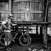 Andrew Whiteford takes a break along the Padang Trail in the jungle near Chiang Dao, Thailand.