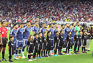 HOUSTON, TEXAS - JUNE 21: Argentina stand before the Semifinal match between Argentina and US at NRG Stadium as part of Copa America Centenario US 2016 on June 21, 2016 in Houston, Texas, US. Argentina won 4 to 0. (Photo by Thomas B. Shea/LatinContent/Getty Images)