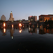 A Thousand Ships at Waterfire: A public ritual in remembrance of the Rhode Island slave trade, October 4, 2008.