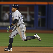 Yangervis Solarte, San Diego Padres, running to second during the New York Mets Vs San Diego Padres MLB regular season baseball game at Citi Field, Queens, New York. USA. 29th July 2015. Photo Tim Clayton
