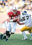 COLLEGE FOOTBALL:  Stanford vs Cal in the 104th annual Big Game played on on November 17, 2001 at Stanford Stadium in Palo Alto, California.  Randy Fasani #12, Stanford.  Photograph by David Madison (www.davidmadison.com).