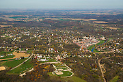 Aerial photograph of Galena, Illinois, looking toward the east.