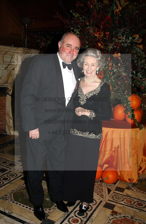 The Russian Ambassador MR GREGORY KARASIN and PRINCESS JEAN GALITZINE at a recital and dinner to celebrate the 10th anniversary of The Galitzine Library held at 2 Temple Place, London WC2 on 16th November 2004.<br />
