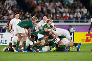 Faf de Klerk of South Africa passes the ball during the World Cup Japan 2019, Final rugby union match between England and South Africa on November 2, 2019 at International Stadium Yokohama in Yokohama, Japan - Photo Yuya Nagase / Photo Kishimoto / ProSportsImages / DPPI