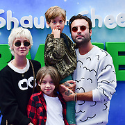 Pete Denton and Portia Freeman with Dylan and Rudy attend the Shaun the Sheep Movie: Farmageddon, at ODEON LUXE on 22 September 2019,  London, UK