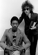 Poets - Linton Kwesi Johnson and John Cooper Clark - London Studio Photosession - 1978