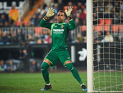 January 26, 2019 - Valencia, Valencia, Spain - Sergio Asenjo of Villarreal CF during the La Liga Santander match between Valencia and Villarreal at Mestalla Stadium on Jenuary 26, 2019 in Valencia, Spain. (Credit Image: © Maria Jose Segovia/NurPhoto via ZUMA Press)