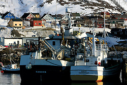 NORWAY HAMMERFEST 23MAR07 - Fishing boats in Tjuven near Hammerfest, the world's most northerly town...jre/Photo by Jiri Rezac..© Jiri Rezac 2007..Contact: +44 (0) 7050 110 417.Mobile:  +44 (0) 7801 337 683.Office:  +44 (0) 20 8968 9635..Email:   jiri@jirirezac.com.Web:    www.jirirezac.com..© All images Jiri Rezac 2007 - All rights reserved.