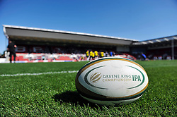 A general view of a Greene King IPA Championship ball - Photo mandatory by-line: Patrick Khachfe/JMP - Mobile: 07966 386802 06/09/2015 - SPORT - RUGBY UNION - Bristol - Ashton Gate - Bristol Rugby v Bedford Blues - Greene King IPA Championship