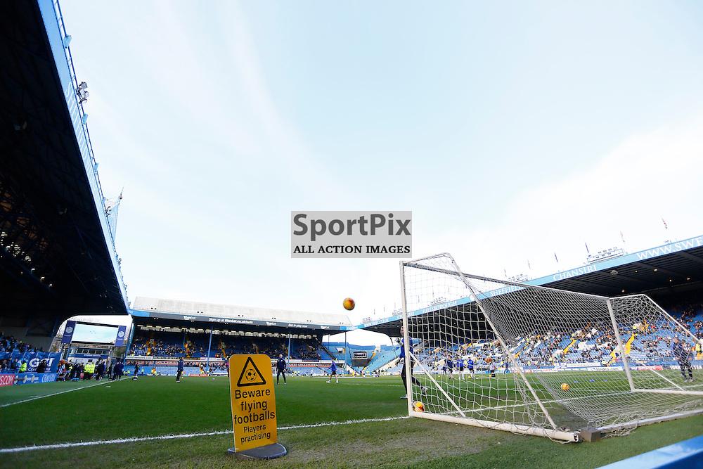 Flying balls during Sheffield Wednesday v Leeds United, SkyBet Championship, Saturday 16th January, Hilsborough, Sheffield