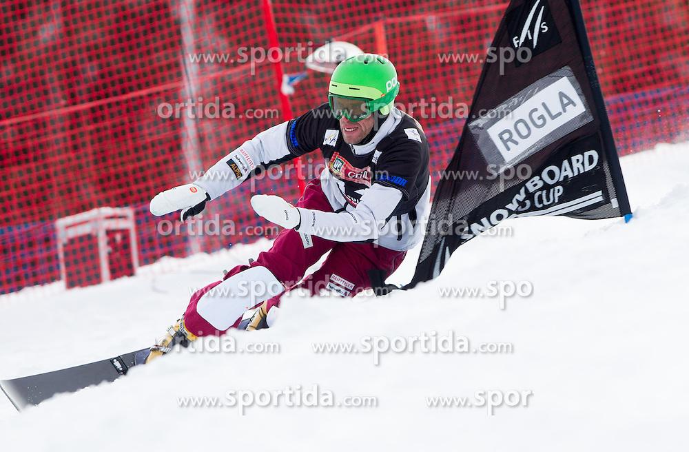 Simon Schoch of Switzerland during FIS Snowboard World Cup Rogla 2013 in Parallel Giant slalom, on February 8, 2013 in Rogla, Slovenia. (Photo By Vid Ponikvar / Sportida.com)