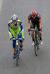 Maciej Bodnar   (POL) of Liquigas and Alessandro Raisoni (ITA) of Carmiooro - A Style  Uphill to Kozjak at 3rd stage of Tour de Slovenie 2009 from Lenart to Krvavec, 175 km, on June 20 2009, Slovenia. (Photo by Vid Ponikvar / Sportida)