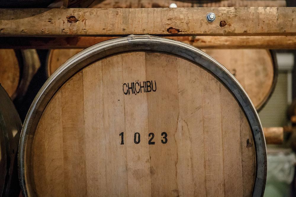 A barrel of Chichibu whisky at Chichibu Distillery in Chichibu, Saitama Prefecture, Japan, November 4, 2015. Gary He/DRAMBOX MEDIA LIBRARY