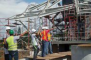Registro de avance de la obra del Biomuseo, Punte de vida, Panamá City.©Victoria Murillo/istmophoto.com