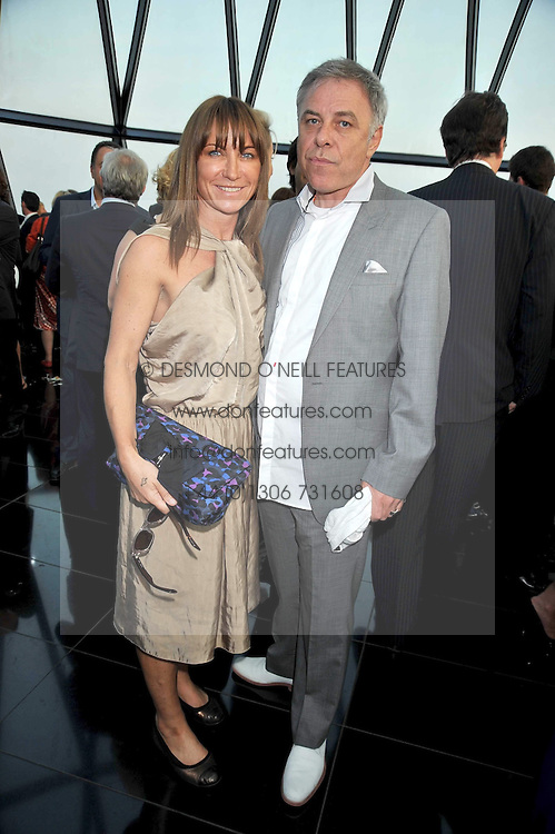 MEG MATTHEWS and PETER SIDELL at the Variety Club gala evening held at The Gherkin, St.Mary Axe, City of London on 2nd July 2009.