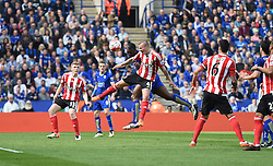 Wes Morgan of Leicester City scores with a header. - Mandatory by-line: Alex James/JMP - 03/04/2016 - FOOTBALL - King Power Stadium - Leicester, England - Leicester City v Southampton - Barclays Premier League