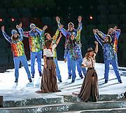 07.02.2014. Sochi, Russia. Opening Ceremonies for the XXII Olympic Winter Games Sochi 2014. FISHT Stadium, Adler/Sochi, Russia Pop-Duo t.A.T.u. during the Opening Ceremony