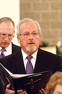 Clyde Golden of Miamisburg during a rehearsal before a performance of 'The Way of the Cross' at St. Luke Catholic Parish in Beavercreek, Friday, March 30, 2012.