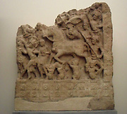 Le Grand Depart. 2nd century Amaravati School (1st century BC - 3rd century AD). marmoreal limestone sculpture from Andra Pradesh, India