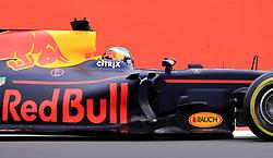 Red Bull Racing's Daniel Ricciardo during second practice of the 2017 British Grand Prix at Silverstone Circuit, Towcester.