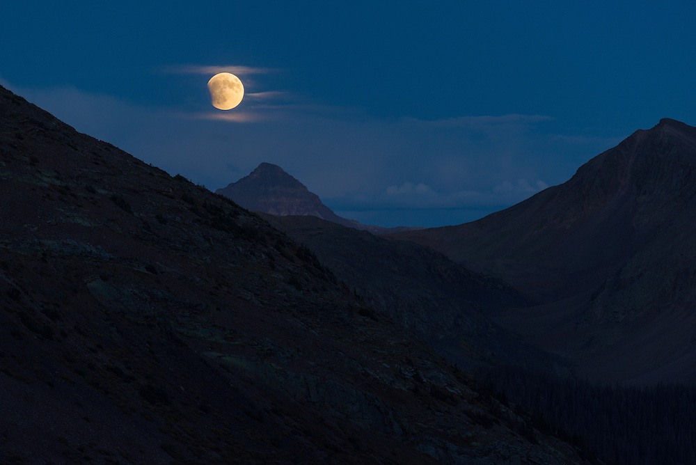 Supermoon eclipse over the Continental Divide, Weminuche Wilderness, Colorado.