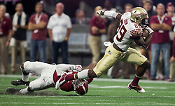 Florida State Seminoles wide receiver Keith Gavin (89) during the Chick-fil-A Kickoff NCAA football game on Saturday, September 2, 2017, in Atlanta. (Jason Parkhurst via Abell Images for Chick-fil-A Kickoff Game)
