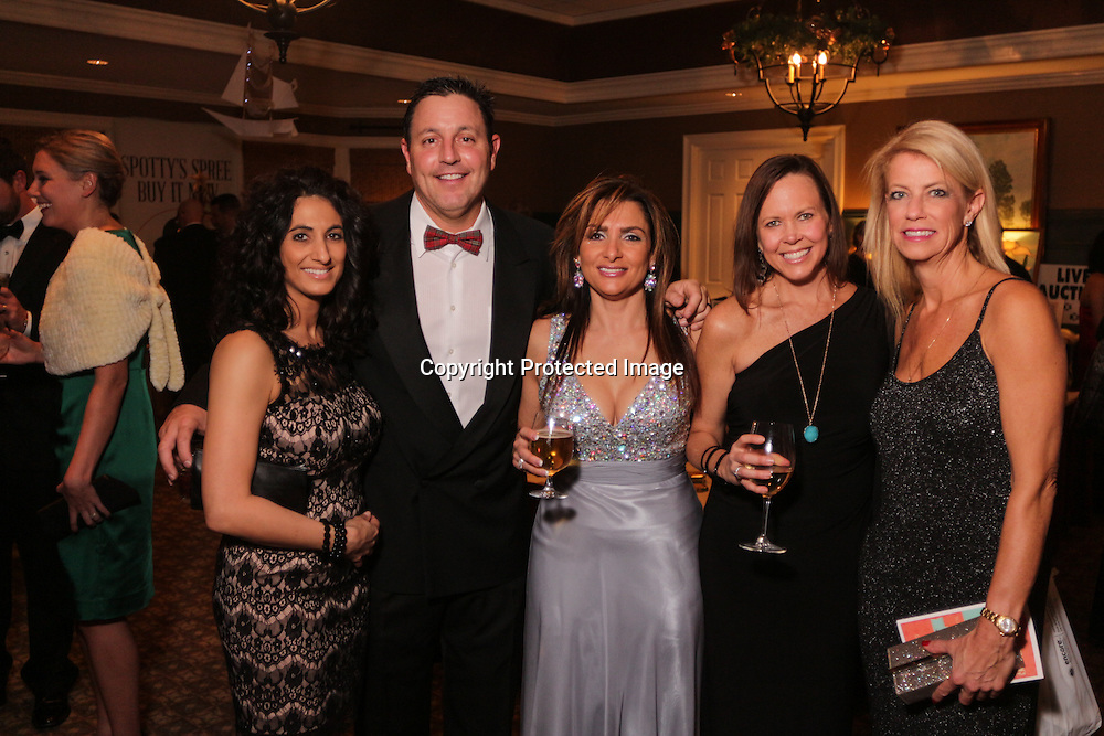 Left to Right, Tanya Campagna, Paul Campagna, Stacy Tinnerello, Meredith Johnson, and Amy Spicuzza pose for a picture Saturday December 6, 2014 during the 9th Annual Wilmington Fur Ball at the Country Club of Landfall in Wilmington, N.C. (Jason A. Frizzelle)