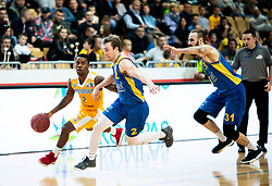 Corin Darius Henry of Sixt Primorska vs Casey Bryan Benson of Hopsi Polzela during basketball match between KK Sixt Primorska and KK Hopsi Polzela in final of Spar Cup 2018/19, on February 17, 2019 in Arena Bonifika, Koper / Capodistria, Slovenia. Photo by Vid Ponikvar / Sportida